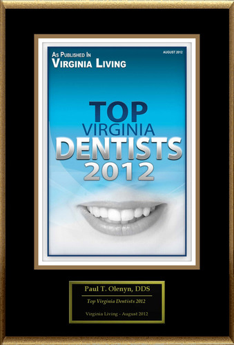 Paul T. Olenyn, DDS Selected For 'Top Virginia Dentists 2012'