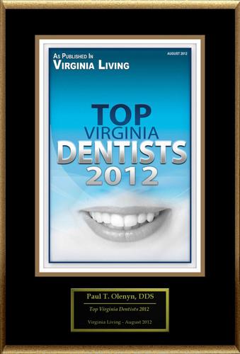 "Paul T. Olenyn, DDS Selected For ""Top Virginia Dentists 2012.""  (PRNewsFoto/American Registry)"