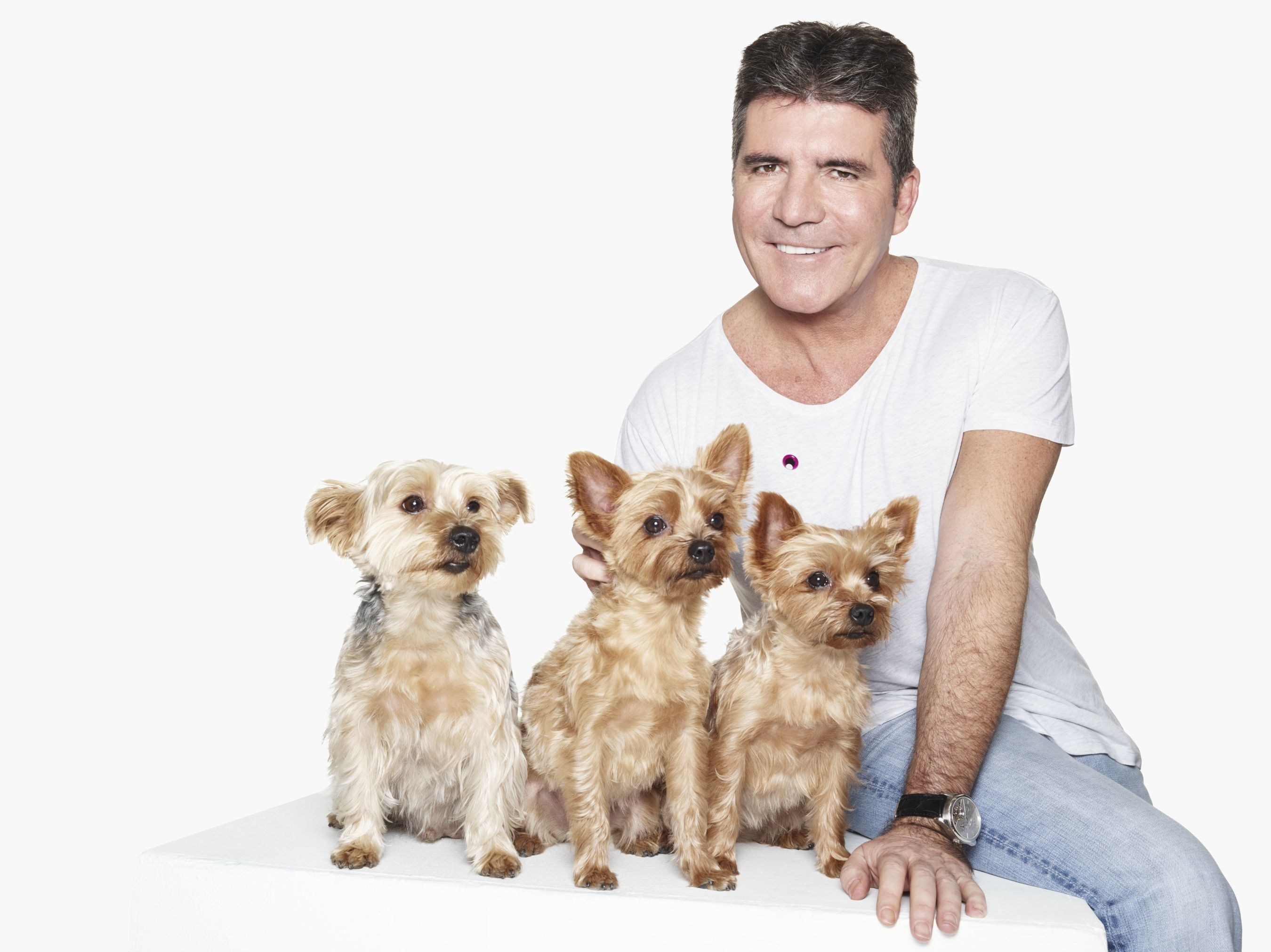 Simon Cowell by Rankin joins Cruelty Free International to end dog experiments