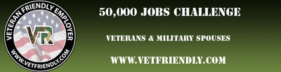 50,000 Jobs for Veterans and Military Spouses.  (PRNewsFoto/Veteran Recruiting)