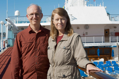 Darren and Sandy Van Soye have started their round-the-world adventure aboard Pacific Princess.  (PRNewsFoto/Princess Cruises)