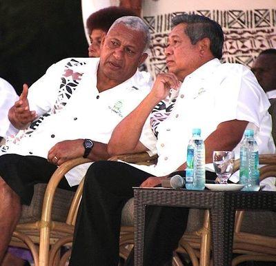 Fijian Prime Minister Voreqe Bainimarama and Indonesian President Susilo Bambang (PRNewsFoto/Republic of Fiji)