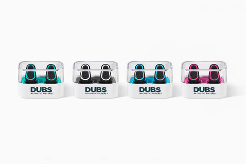 Available in four colors, DUBS Acoustic Filters are advanced tech earplugs that reduce volume and protect your ...