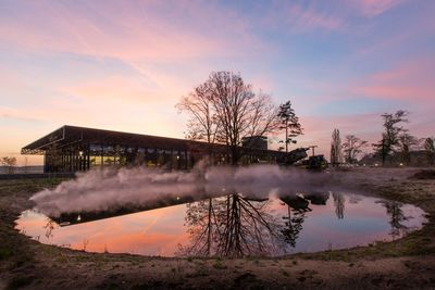 On Thursday 11 December, His Majesty the King Willem Alexander will open the National Military Museum at the former Soesterberg air base in the Netherlands. The specially designed building has a floor area of 35,000 m2 and is 17 metres tall. The enormous roof is 110 x 250 metres in size. The NMM lies in Soesterberg Air Base Park, which has long been a very important place for Dutch military aviation. (PRNewsFoto/National Military Museum)