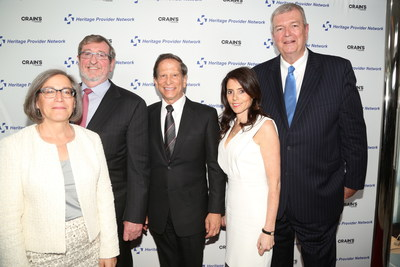 From left to right: Louise Cohen, CEO Primary Care Development Corp, Michael Dowling, Pres&CEO, Northwell Health, Dr Richard Merkin, Pres&CEO Heritage Provider Network, Jill Kaplan, VP & Publisher of Crain's NY Business and Mark Wagar, President of Heritage Medical Systems. Photo credit: http://douggoodman.com/CNYB