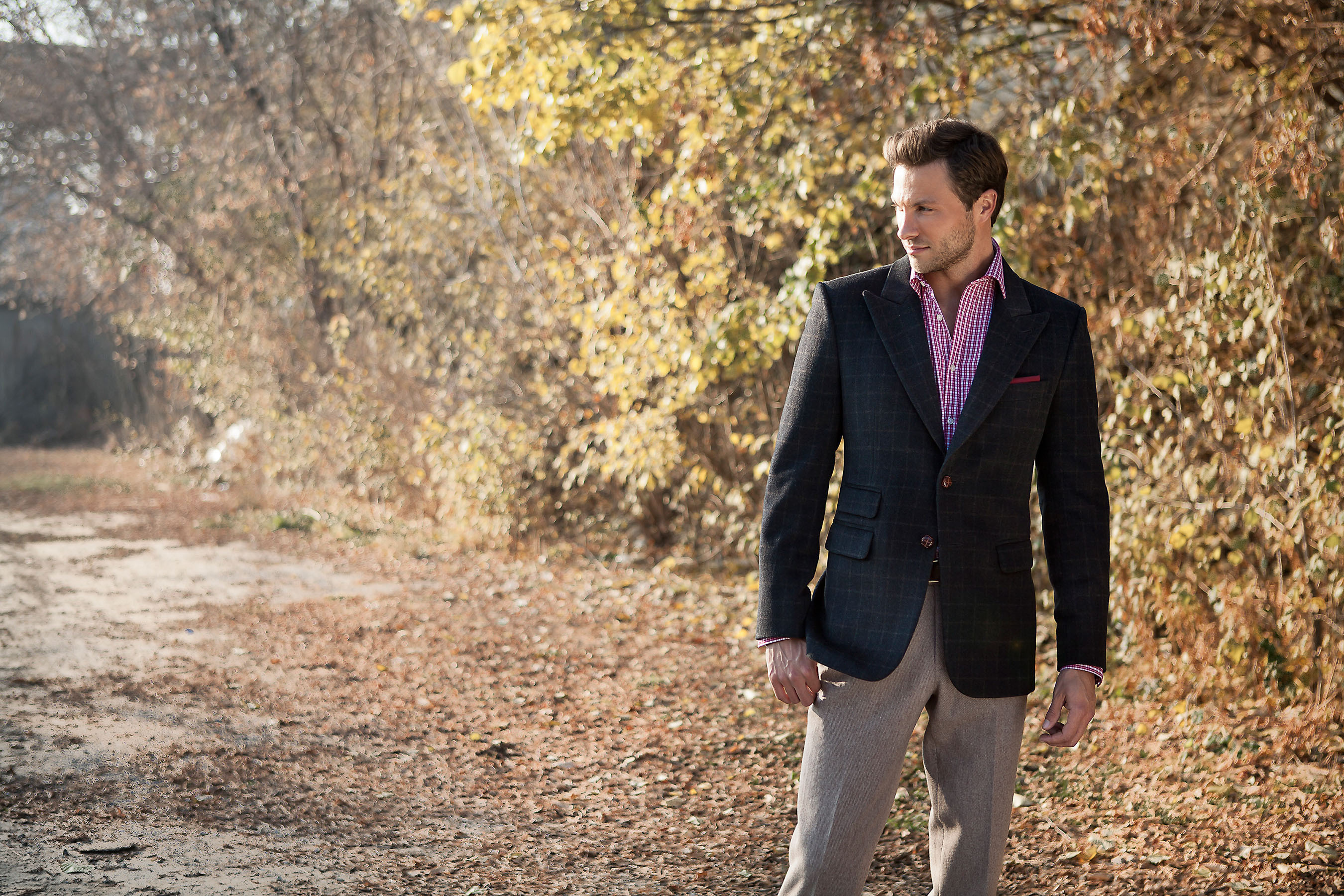 The Birmingham Winter Blazer with Ash Brown Wool Pants (c)Suitly Apparel Inc.  (PRNewsFoto/Suitly.com)