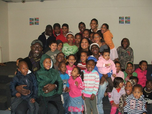 Oscar Nominee Djimon Hounsou and Kimora Lee Simmons Visit SOS Children's Villages in South Africa