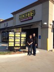 Lee Waskom outside his new Dickey's Barbecue Pit in Natchitoches. Grand opening includes three chances to win free barbecue for an entire year. (PRNewsFoto/Dickey's Barbecue)