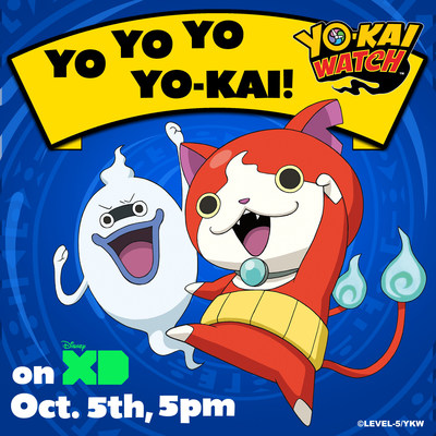 THE YO-KAI ARE COMING!  Anime sensation #YokaiWatch - Mon 10/5 5pm on Disney XD!