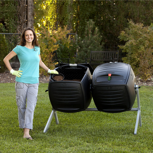 Compost enthusiasts can now efficiently and continuously batch compost with the new Dual Compost Tumbler from Lifetime Products. The Lifetime Dual Compost Tumbler features two 50-gallon tumblers on a single frame, allowing one filled tumbler to mature while continuing to fill the other tumbler. It also includes a visual processing indicator to attach to show which tumbler contents are maturing. Both tumblers turn on an axis for easy and balanced rotation using built-in handles, and can be filled and turned with a new single-hand operation. The  ...