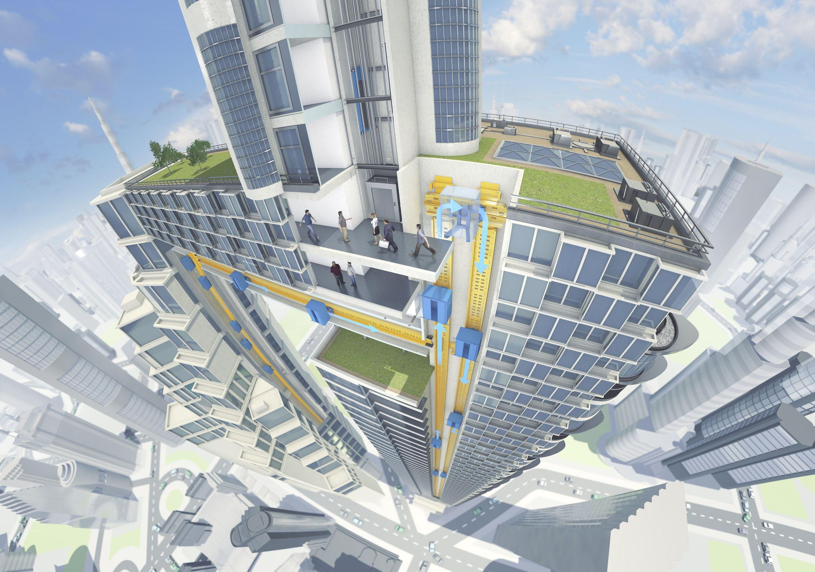 ThyssenKrupp desarrolla primer sistema elevador del mundo sin cables para que industria de la