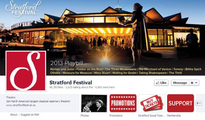 Stratford Festival's Social Ticketing app developed by JCA.  (PRNewsFoto/Jacobson Consulting Applications, Inc.)