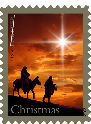 The Holy Family lives forever on stamp issued today by the United States Postal Service.  (PRNewsFoto/U.S. Postal Service)