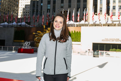 Olympic Silver Medalist Sasha Cohen hosts the opening of The Rink at Rockefeller Center on October 11, 2016. The Rink is celebrating its 80th anniversary this year, and is now open for the season.