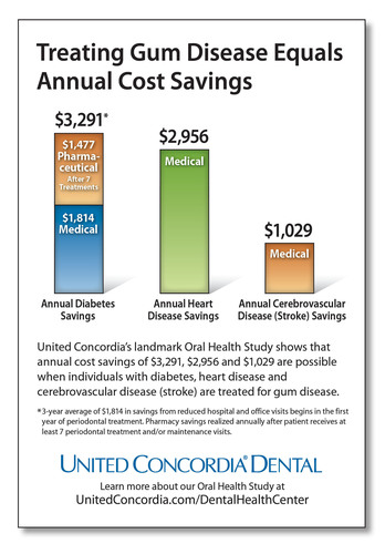 United Concordia's landmark Oral Health Study shows that annual cost savings of $3,291, $2,956 and $1,029 are possible when individuals with diabetes, heart disease and cerebrovascular disease (stroke) are treated for gum disease.  (PRNewsFoto/United Concordia Dental)