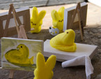 "Gretchen Crossley entered ""PEEPS(R) 101"" in the 2014 Seattle Times PEEPS(R) Diorama Contest, depicting PEEPS(R) mastering their skills in fine arts."