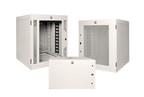 El Gabinete Estándar para Montaje en Pared de CPI proporciona un almacenamiento de equipos seguro para salas de telecomunicaciones