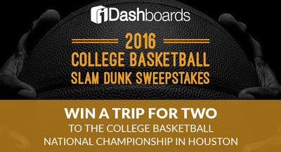 Data visualization provider, iDashboards, is giving college basketball fans an opportunity to win a trip for two to the College Basketball National Championship in Houston.