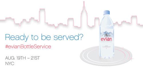 evian Bottle Service (PRNewsFoto/evian)