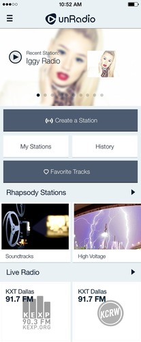 Rhapsody unRadio. (PRNewsFoto/Rhapsody International)