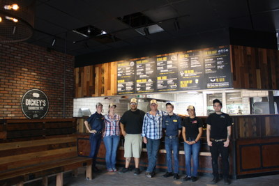 General Manager Travis Cote and Owner/Operator Maurice D'Aoust open Dickey's Barbecue Pit in Maricopa on Thursday