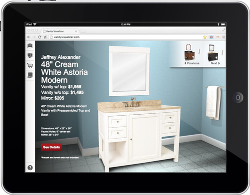Visualize your Next Vanity with www.vanityvisualizer.com. New from Hardware Resources.  (PRNewsFoto/Hardware Resources)