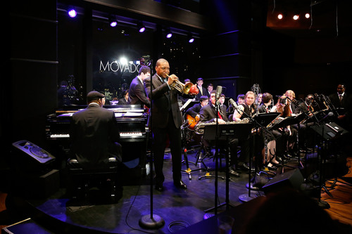Wynton Marsalis performing on stage with the Jazz at Lincoln Center Youth Orchestra.  (PRNewsFoto/Movado Group,  ...