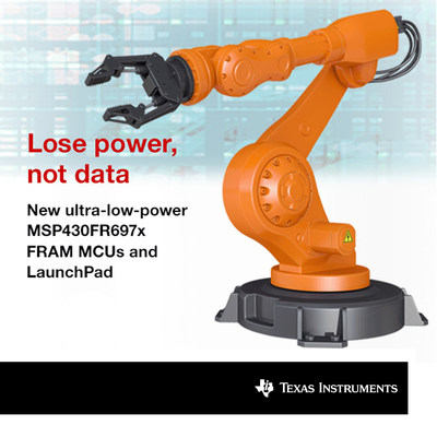 Lose power, not data. New ultra-low-power FRAM microcontrollers from Texas Instruments revolutionize context save and restore.