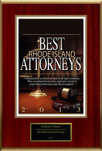 "William Delaney Selected For ""Best Rhode Island Attorneys"".  (PRNewsFoto/American Registry)"
