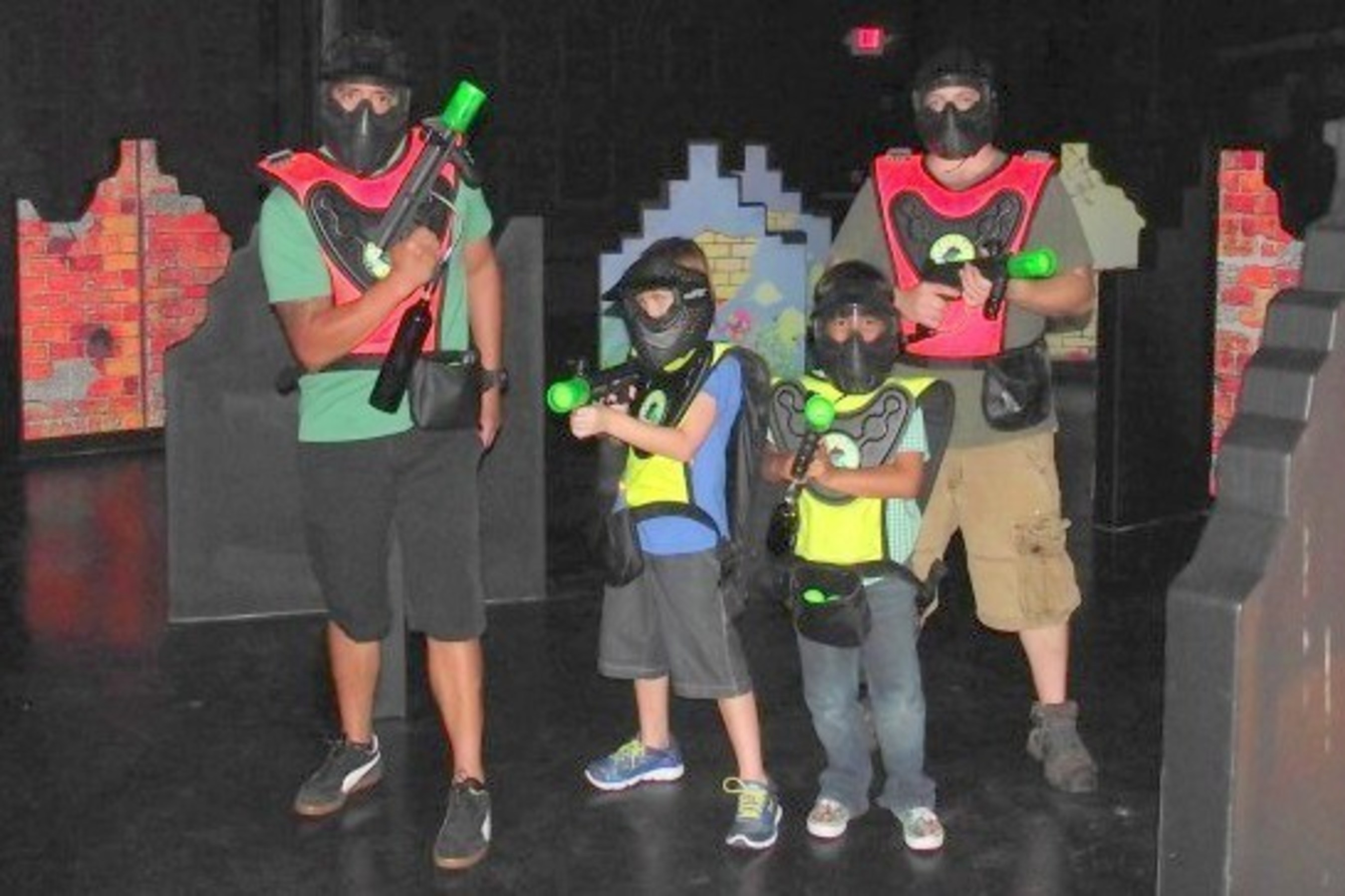 Adults and childrfen alike love the new Battle Zone arena (PRNewsFoto/Jump!Zone of Orange Park)