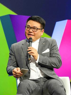 SY Lau speaks at a panel at Viva Technology Paris