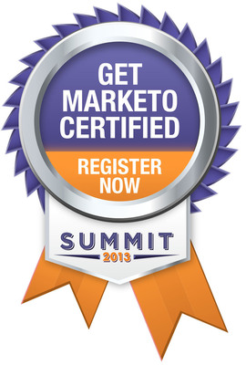 Marketo Launches New Certification Program at Summit 2013 to Validate Users' Marketing Software Proficiency.  (PRNewsFoto/Marketo)