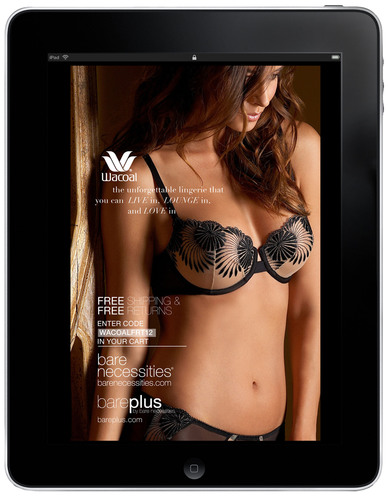 BareNecessities.com launches its latest swimwear and Wacoal bra catalogs exclusively for tablets and Internet.  (PRNewsFoto/Bare Necessities)