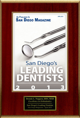 "Dr. Nappen Selected For ""San Diego's Leading Dentists"""