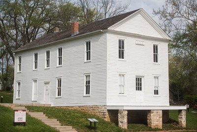 Constitution Hall in Lecompton, Kansas.