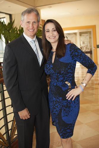 2014 Dream Makers Gala Chair, David Kubiliun, and DDF President & Founder, Debbie Zelman (PRNewsFoto/Debbie's Dream Foundation...)