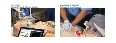 Wireless and tetherless simulators HAL S3201 and Trauma HAL S3040.100