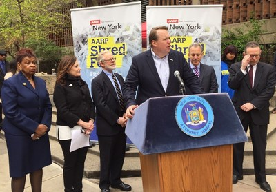 New York State Attorney General Eric Schneiderman Partners with AARP at 'Shred Fest 2016,' Helps New Yorkers Avoid Risk of Identity Theft