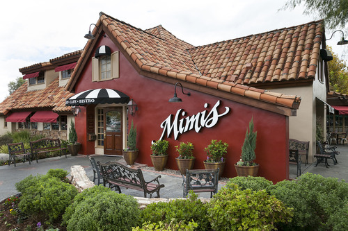 Exterior of the new Mimi's Bakery, Cafe and Bistro as part of a French Revolution Brand Reimage Program ...