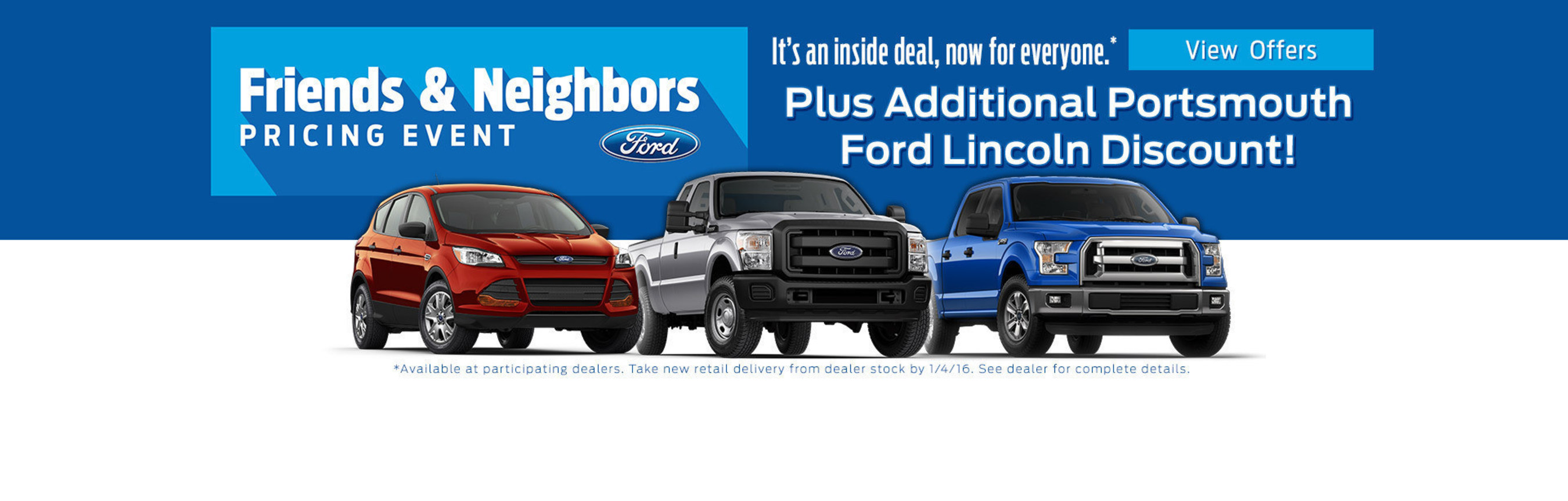 Portsmouth Ford dealership to participate in Ford Friends and Neighbors Pricing Event