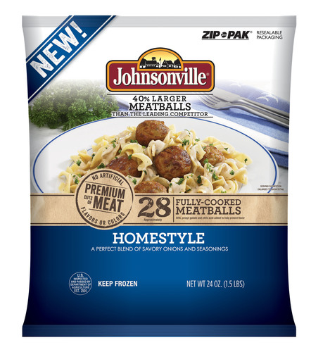 Johnsonville Sausage expands into a new food category with five varieties of frozen meatballs and sausage ...