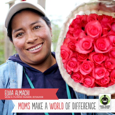 """Please continue to believe in us. It's through these Fair Trade flowers that hundreds of families, like mine, continually improve our lives."" - Elvia Almachi, Cotopaxi, Ecuador.  (PRNewsFoto/Fair Trade USA)"