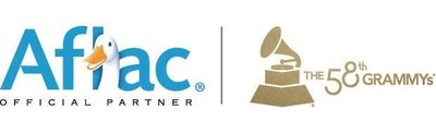 Aflac and The 58th GRAMMYs Official Partner Logo
