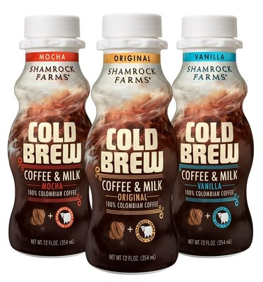 Shamrock Farms new Cold Brew Coffee and Milk is available in original, vanilla and mocha flavors.