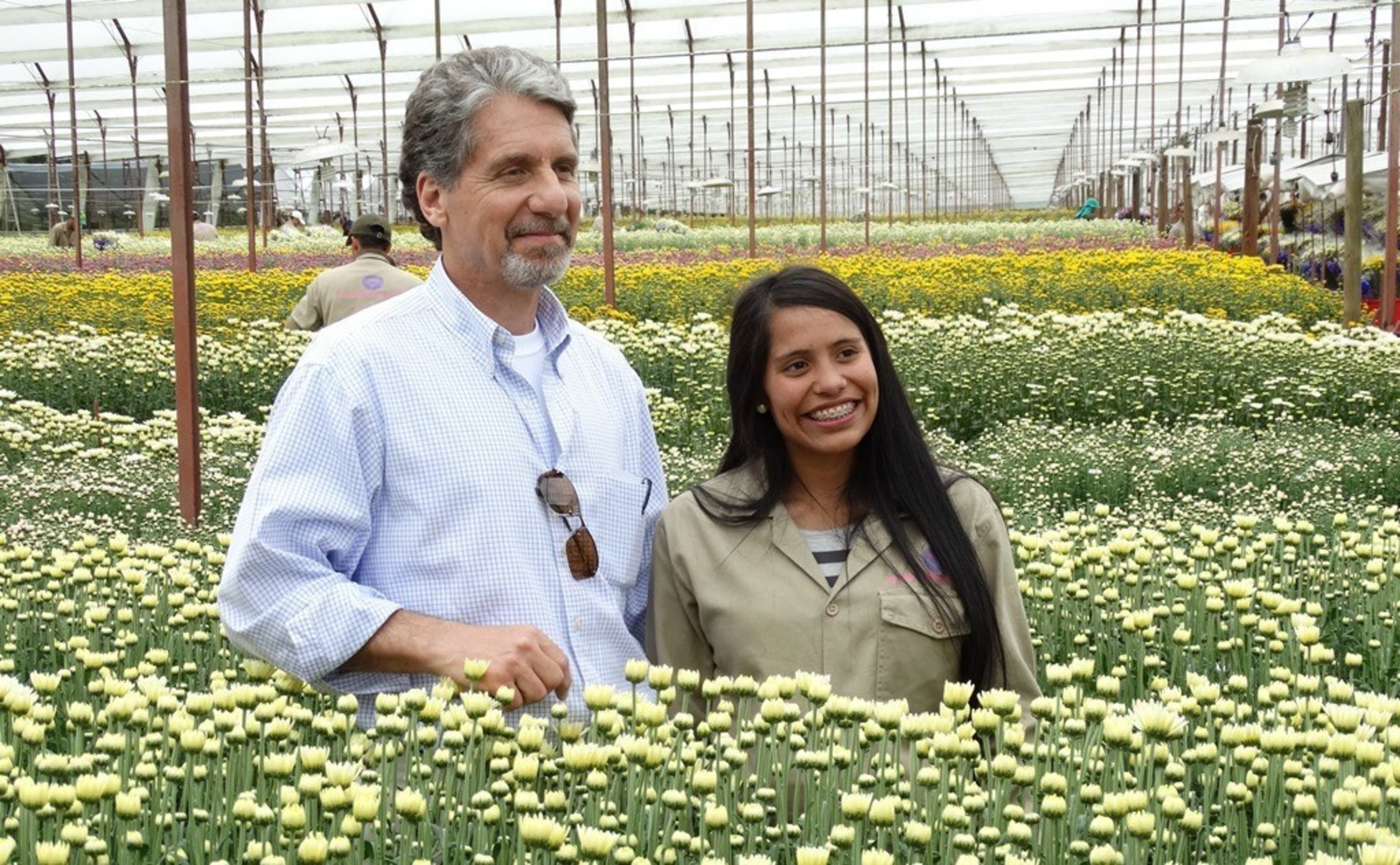 Colombian flower farm worker invites U S  Ambassador to see