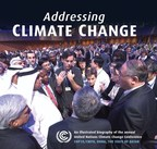 """Addressing Climate Change"", a timely new book of stunning photographs by award-winning photographer Henry Dallal, captures the art, science, and diversity of climate change negotiations from an unprecedented behind-the-scenes perspective, and has been endorsed by Michael Douglas, Ed Norton, Yoko Ono, and Ban Ki-moon, among others. (PRNewsFoto/Gilgamesh Publishing)"