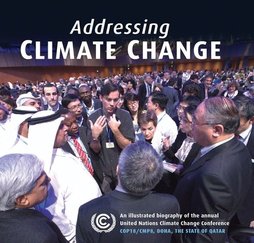 """""""Addressing Climate Change"""", a timely new book of stunning photographs by award-winning photographer Henry Dallal, captures the art, science, and diversity of climate change negotiations from an unprecedented behind-the-scenes perspective, and has been endorsed by Michael Douglas, Ed Norton, Yoko Ono, and Ban Ki-moon, among others. (PRNewsFoto/Gilgamesh Publishing)"""