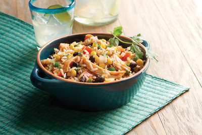 Fiesta Chicken & Rice made with Minute® Ready to Serve Black Beans & Rice