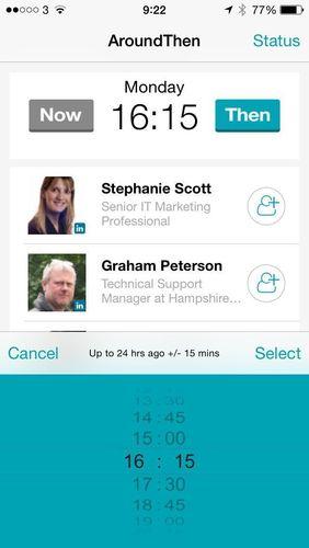 AroundThen proximity networking app screenshot (PRNewsFoto/AroundThen)