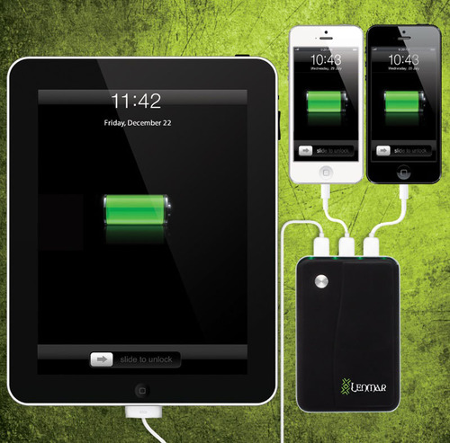 Get Undead Power - Helix 11,000mAh External Battery Pack for Tablets and Smartphones.  (PRNewsFoto/Lenmar Enterprises, Inc.)